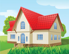RED ROOF HOUSE DRAWING