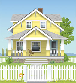 Yellow House Drawning